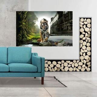 """Tiger Art Full Color Wall Decal Sticker AN-550 FRST Size 52""""x80"""""""