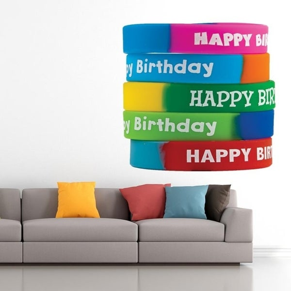 Hy Birthday Full Color Wall Decal Sticker An 555 Frst Size