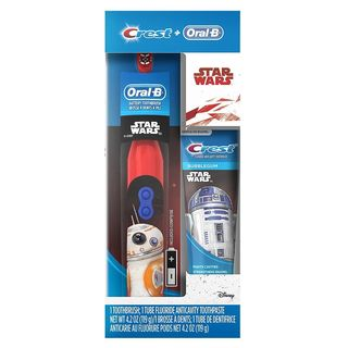 Oral-B Crest Star Wars Fluoride Anticavity Toothpaste & Battery Powered Toothbrush