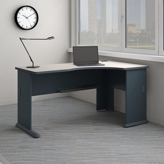 Bush Business Furniture Series A Right Corner Desk in Slate and White