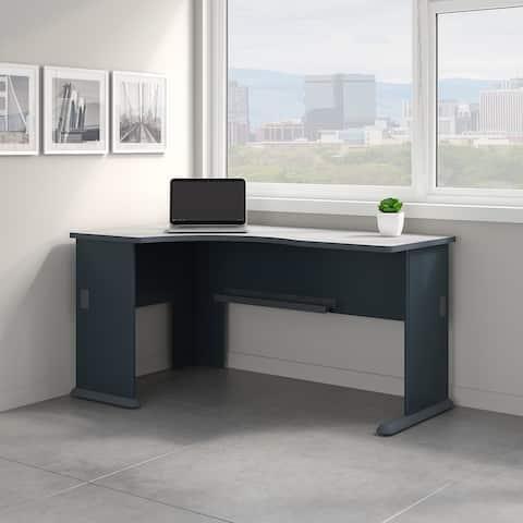 Bush Business Furniture Series A Left Corner Desk in Slate and White