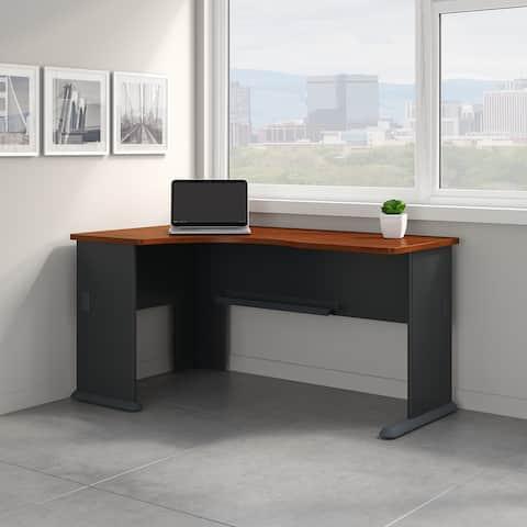 Bush Business Furniture Series A Left Corner Desk in Hansen Cherry
