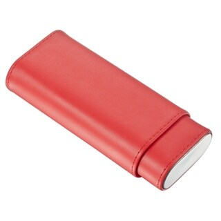 Visol Italiano Red Leather Cigar Case