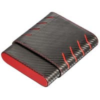 Visol Black and Red Carbon Fiber pattern 6 Finger Cigar Case