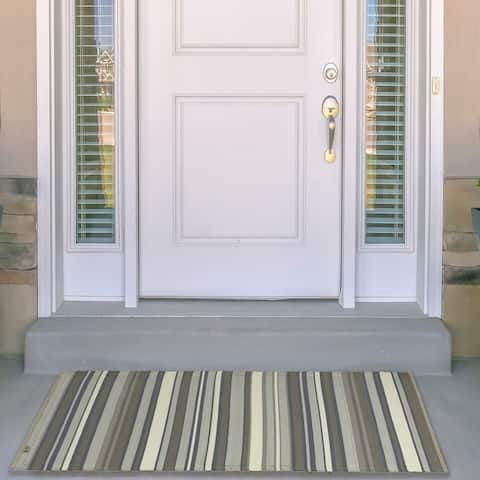 Kotter Home Striped Indoor / Outdoor Mat - 4' x 6'