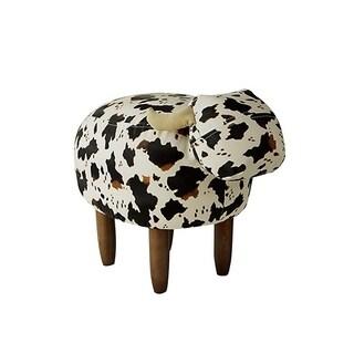 Jaxson - Black and White Cow - Seating Stool