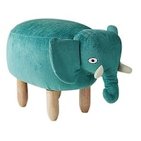 Oliver - Teal Elephant - Seating Stool