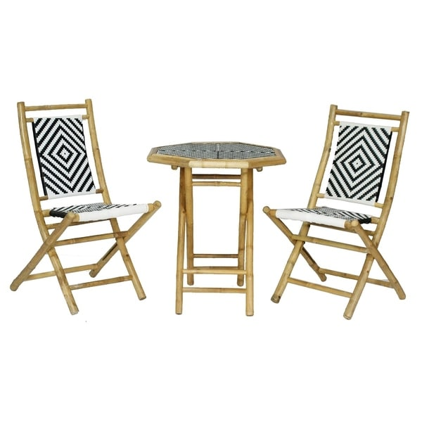 Shop Hana 3 Piece Indoor/ Outdoor Bistro Set - Free Shipping Today ...