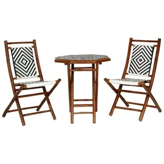 Hana 3 Piece Indoor/ Outdoor Bistro Set