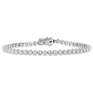 Miadora Signature Collection White Gold 2 4/5ct TDW Diamond Tennis Bracelet