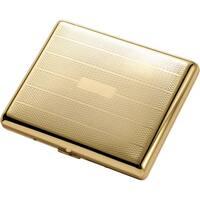 Visol Pierre Polished Gold Cigarette Case - Holds 20 100mm cigarettes