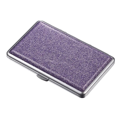 Visol Glamour II Purple Glitter Double Sided Cigarette Case
