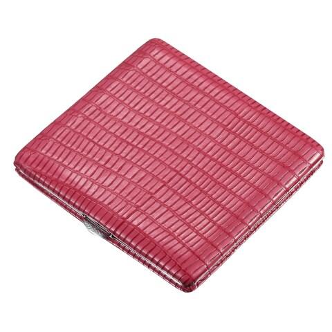 Visol Hot Pink Leather Cigarette Case