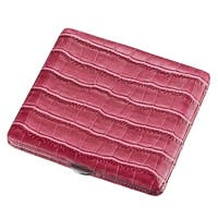 Visol Nava Hot Pink Crocodile Pattern Cigarette Case