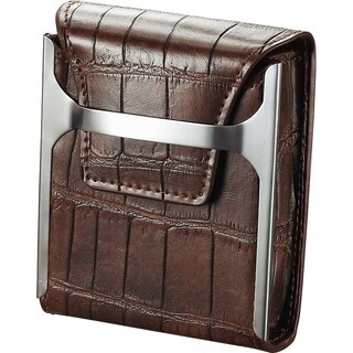 Visol Worthington Brown Leather Regular Cigarette Pack Holder