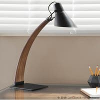 Palm Canyon Cantera Mid-Century Modern Wood and Metal Table Lamp