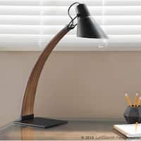 Carson Carrington Fagersta Mid-Century Modern Wood and Metal Table Lamp