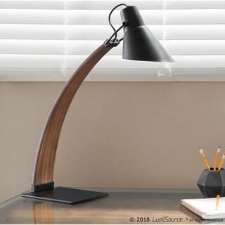 Noah Mid-Century Modern Wood and Metal Table Lamp