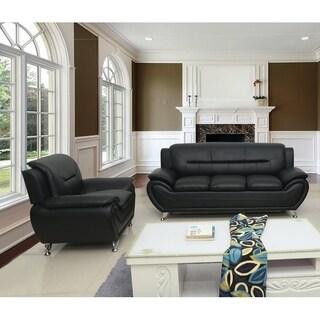Michael Segura Modern Upholstered Sofa and Chair Living Room Set