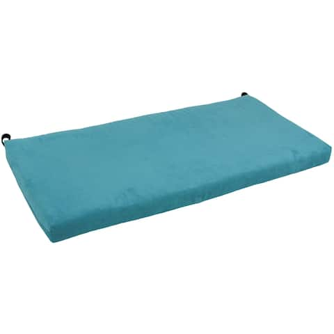 Blazing Needles 48-inch Indoor Microsuede Bench Cushion