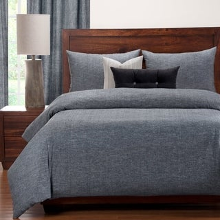 Siscovers Pacific Blacksand 6 Piece Luxury Linen/Cotton Blend Duvet and Comforter Insert Set