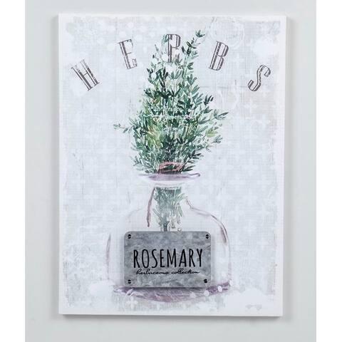 15.74''H White/Green 3D Canvas Wall Art