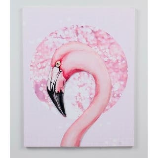 16.53''H Pink 3D Canvas Wall Art