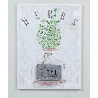 15.74''H White/Green 3D Canvas Wall Art