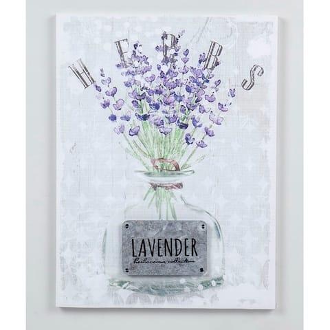 15.74''H White/Purple 3D Canvas Wall Art