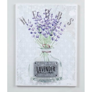 15.74''H White/Purple 3D Canvas Wall Art - N/A