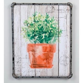 19.7''H Green/Brown Canvas Wall Art