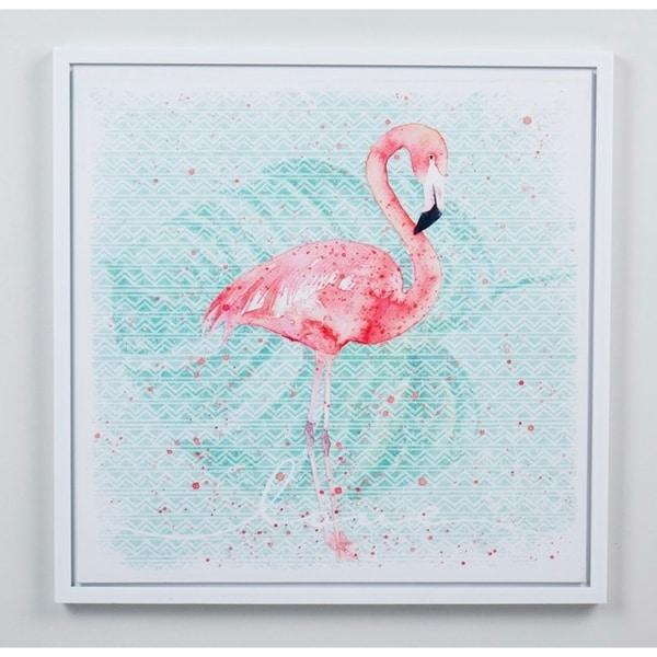 19.68''H Pink/Green 3D Canvas Wall Art