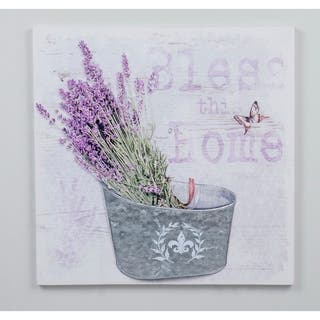 15.75''H Purple 3D Canvas Wall Art