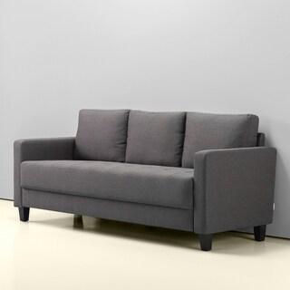Priage Modern Sofa, Steel Grey