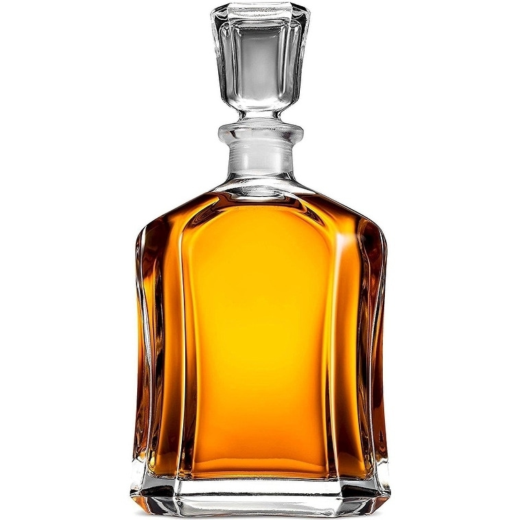 Capitol Gl Decanter With Air Geometric Stopper Whiskey For