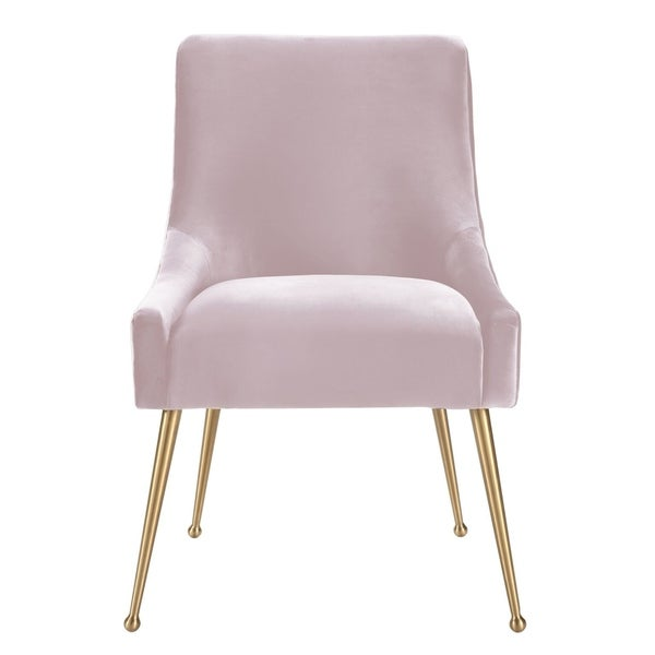 Beatrix Blush Velvet Side Chair by Generic