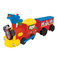 Kiddieland Disney Mickey Mouse 2-in-1 Battery-Powered Ride-on Choo Choo Train with Caboose & Tracks