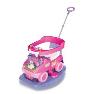 Kiddieland Disney Princess 4-in-1 Rock n' Ride Activity Ride-On
