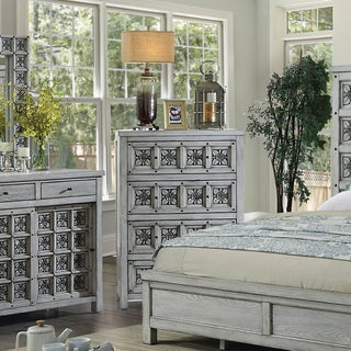 Furniture of America Vandalla Rustic Light Grey 4-drawer Chest