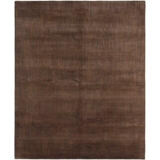 eCarpetGallery Hand-knotted Opulence Brown, Dark Brown Wool Rug - 8'1 x 9'11
