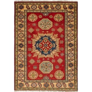 eCarpetGallery Hand-knotted Finest Gazni Red Wool Rug - 3'2 x 4'8