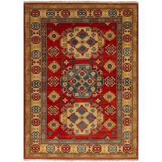 eCarpetGallery Hand-knotted Finest Gazni Red Wool Rug - 4'0 x 5'9