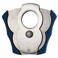 Vidol Tristan Blue Rubber & Brushed Chrome Cigar Cutter