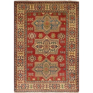 eCarpetGallery Hand-knotted Finest Gazni Red Wool Rug