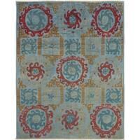 eCarpetGallery Hand-knotted Shalimar Light Blue Wool Rug - 8'0 x 10'3