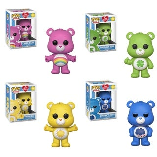 Funko POP! Animation Care Bears Collectors Set; Good Luck Bear, Cheer Bear, Grumpy Bear & Funshine Bear