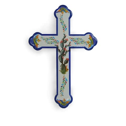 HiEnd Accents Spanish Style Cross Wall Hanging,16x11