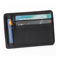 The Bolt RFID Blocking 100% Leather Card Holder - Brown