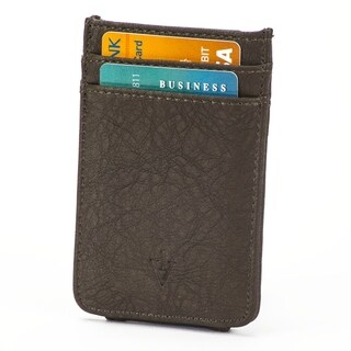 The Striker RFID Blocking Leather Card Holder & Magnetic Money Clip - Dark Brown
