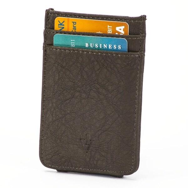 9b6a36aedef2 The Striker RFID Blocking Leather Card Holder  amp  Magnetic Money Clip - Dark  Brown